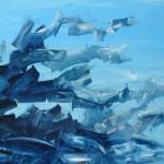 Sin título. Acrílico y óleo sobre lienzo. 54 x 65 cm. 2003