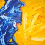 Sin título. Acrílico y óleo sobre lienzo. 81 x 100 cm. 2000