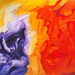 Sin título. Acrílico y óleo sobre lienzo. 81 x 100 cm. 2002