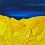 Cuasipaisaje I. Acrílico y óleo sobre lienzo. 100 x 81 cm. 2002