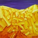 Cuasipaisaje II. Acrílico y óleo sobre lienzo. 100 x 81 cm. 2004