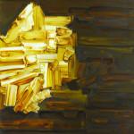 Siena y oro. Acrílico y óleo sobre lienzo 100 x 81 cm. 2003