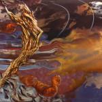 Ángel informalista II. Técnica mixta sobre lienzo. 100 x 150 cm. 2015