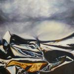 Paisaje plegado. Óleo sobre lienzo 65 x 54 cm. 2005
