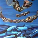 Sin título. Acrílico y óleo sobre lienzo. 100 x 81 cm. 2008