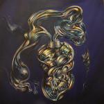 Cyberlove. Acrílico y óleo sobre lienzo 100 x 100 cm. 2012