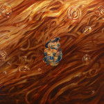 Sin título. Acríico y óleo sobre lienzo. 110 x 140 cm. 2015