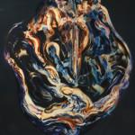 Sin título. Acrílico y óleo sobre lienzo. 130 x 97 cm. 2011