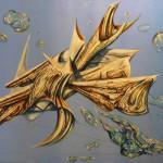 Estructura 11. Acrílico y óleo sobre lienzo. 97 x 130 cm. 2015