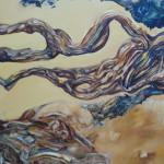 Kaos ordenado. Óleo sobre lienzo 100 x 81 cm. 2005