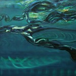 Armónico simple I. Acrílico y óleo sobre lienzo 100 x 100 cm. 2007