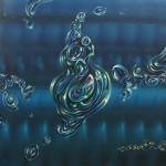 Sin título. Acrílico y óleo sobre lienzo. 100 x 100. 2015