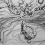 Sin título. Carbón sobre papel. 70 x 100 cm. 2015