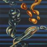 Sin titulo. Acrílico y óleo sobre lienzo. 60 x 30 cm. 2011.