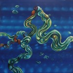 Fragmento de Philip Glass . Acrílico y óleo sobre lienzo. 100 x 100. 2015