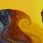 Neperiano I. Acrílico y óleo sobre lienzo. 40 x 80 cm. 2004