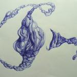 Boceto. Bolígrafo sobre papel. 29 x 42 cm. 2014