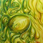 Líquido. Acrílico y óleo sobre lienzo. 73 x 116 cm. 2014